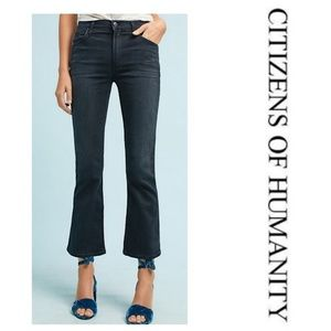 NWOT Citizens of Humanity High-Rise Crop Flare